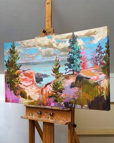 Landscape Art, Painting Inspiration, Diy Art, Art Lessons, Painting & Drawing, Amazing Art, Watercolor Art, Cool Art, Art Projects