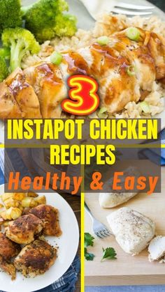 Instant Pot Chicken Thighs Recipe, Chicken Thigh Recipes, Healthy Chicken Recipes, Easy To Make Dinners, Frozen Chicken, Clean Eating, Lunch, Meals, Cooking