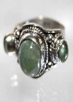 'Oriental Jade Trinity Ring 925 Sterling Silver SZ 7 3/4' is going up for auction at  9am Tue, Feb 19 with a starting bid of $6.