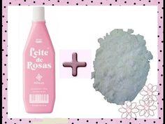 Clareando manchas com ; leite de rosas e bicarbonato de sódio ☝️