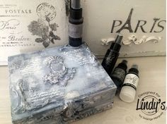 Hi Gang, it's Solange Marques here with a gorgeous vintage altered box using Lindy's Stamp GangStarbursts, Flat FabiosandEmbossing Powderto color the box. This is how I've created m…