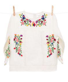 Look what I found on #zulily! Cream Floral Embroidered Top - Girls #zulilyfinds