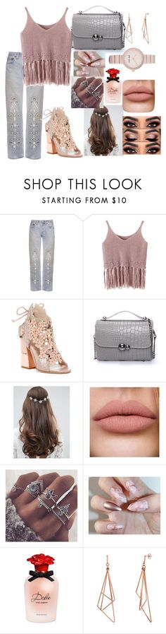 """Untitled #584"" by ancamlk ❤ liked on Polyvore featuring Bliss and Mischief, Chicnova Fashion, Ivy Kirzhner, ASOS, Dolce&Gabbana and Nine West"