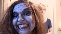 ZOMBIE Halloween Makeup Tutorial - easy how to! #halloween #diy #makeup