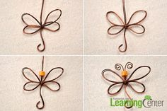 Finish the wire wrapped dragonfly tutorial