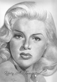 Diana Dors Original Drawing by mystikaz on Etsy