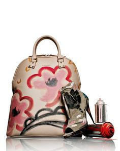 Burberry Painted Leather Tote Bag and Ankle Boot - just gorgeous!