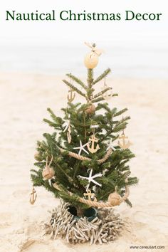 Nautical Themed Christmas Tree from CereusArt - Photo by Jami Thompson Photography