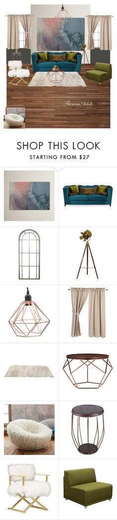 """""""Humbe Abode"""" by tadele87 ❤ liked on Polyvore featuring interior, interiors, interior design, home, home decor, interior decorating, Haute House, PBteen, Dot & Bo and Diamond Sofa"""