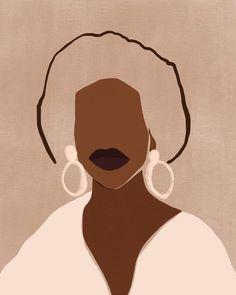 sacrée frangine did a portrait inspired by the beautiful work of Black Girl Art, Black Art, Art Girl, Illustration Inspiration, Art And Illustration, Creative Illustration, Vector Illustrations, Fashion Illustrations, Arte Do Hip Hop