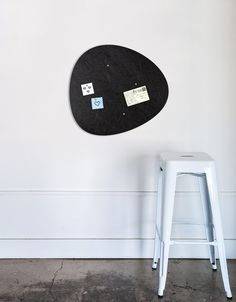 Pebble Pinboard, Small in Black Whiteboard, Wall Spaces, All Design, Fiber, Decals, Home Appliances, Strong, Shapes, Texture