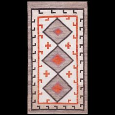 #antique #Navajo #rug. Stock Id: #21497 General Rug Type:      American Specific Rug Type:      Navajo Circa: 1920 Color: Ivory Origin: USA Width: 3' 0'' ( 91.4 cm ) Length: 5' 6'' ( 167.6 cm )