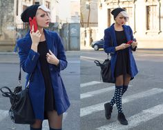 Blue dress socks and sneakers