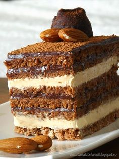 Sweets Recipes, Baking Recipes, Cake Recipes, Sweet Desserts, Easy Desserts, Cobb, Romanian Desserts, Waffle Ice Cream, Chocolate Garnishes