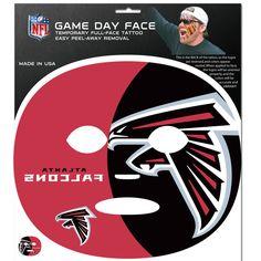 NFL Atlanta Falcons Game Day Face Full Temporary Tattoo Decal Football  #SiskiyouGifts #AtlantaFalcons