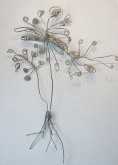 flower and roots.   .....wire sculpture
