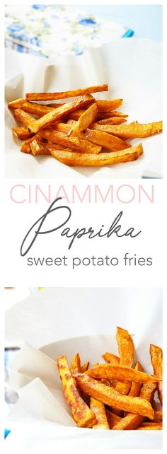 hese cinnamon paprika sweet potato fries make a delicious and healthy side dish packed full of fibre, vitamin C and vitamin A! A paleo, gluten-free, and vegan option | Haute & Healthy Living
