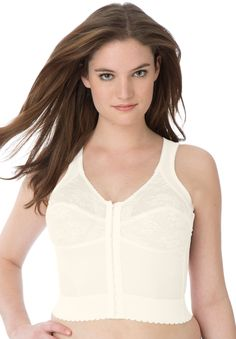 3e976b5fc0d Longline Posture Bra by Comfort Choice - Women s Plus Size Clothing Posture  Bra