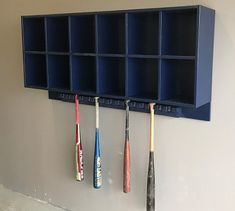 Helmet Bat Combo Features A 12 Cubby Rack With An Attached 15 Capacity Hanging Attaches To Dugout Walls And Chainlink Fence Dugouts