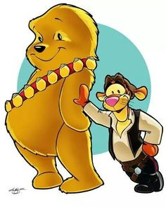 Tigger/Han and Pooh/Chewbacca