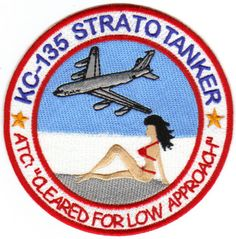 USAF Patch KC 135 Stratotanker Red Bikini on Beach | eBay