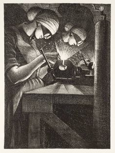 Christopher Richard Wynne Nevinson, 'Acetylene Welding' 1917 (Tate)
