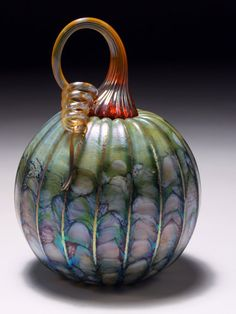 Jack Pine Studio Hand Blown Glass green green by jackpinestudios