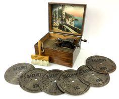 Antique Kalliope Music Box & 6 Discs NOV 19, 2016