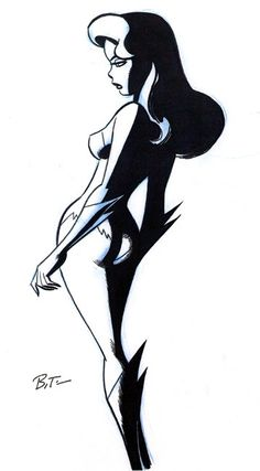 Poison Ivy - Bruce Timm.  Hmm, where have I seen this pose before??