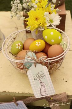 Pretty eggs at an Easter party! See more party ideas at CatchMyParty.com!