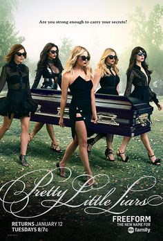 Pretty Little Liars: Sexier Than Ever Five Years Later from Pretty Little Liars' Sexy New Look and Time-Jump Scoop | E! Online Pretty Little Liars, Canvas Poster, Poster Prints, Pll, Silk Fabric, Ashley Benson, Office Mural, Wallpaper, Gossip Girls