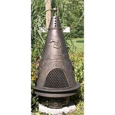 The Blue Rooster Aluminum Natural Gas / Propane Chiminea Finish: Gold Accent Witch Cottage, Witch House, Moon Garden, Garden Art, Garden Sheds, Glass Garden, Chiminea, Outdoor Living, Outdoor Decor