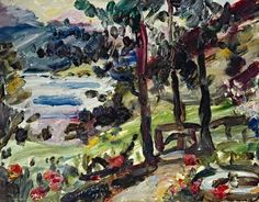 Lovis Corinth - Garten in Urfeld am Walchensee Museum Hannover, Post Impressionism, Art And Architecture, Art Boards, Germany, My Arts, Paintings, Berlin, Artists