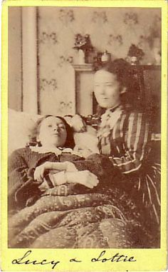 A quite disturbing element of these Victorian post-mortem photographs is the fact that due to the slow process of taking pictures with early cameras, the living in photographs are slightly blurred whilst the dead – who cannot move – appears with crystal clarity. In some ways the dead seem more alive than the living – certainly less ghostly.