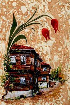 ebru sanatı Turkish water marbling art