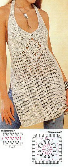Crochet Hepatica Granny Top Free Pattern-#Crochet Summer Halter #Top ...
