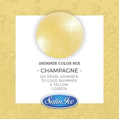 The Shimmer Collection Icing Color Chart, Icing Colors, Cake Decorating Tutorials, Cookie Decorating, Satin Ice Fondant, Coloured Icing, Fondant Decorations, Iced Cookies, Champagne Color