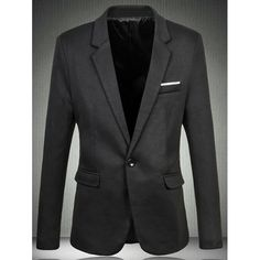 44.65$  Buy now - http://disvc.justgood.pw/go.php?t=189302018 - Trendy Single Button Opening Notch Lapels Casual Blazer For Men 44.65$