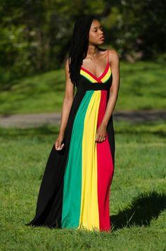 I want this rasta dress!!!!!