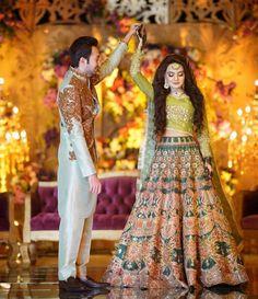 Image may contain: 2 people, people standing Pakistani Mehndi Dress, Bridal Mehndi Dresses, Walima Dress, Shadi Dresses, Pakistani Wedding Outfits, Bridal Lehenga Choli, Wedding Dresses For Girls, Pakistani Wedding Dresses, Pakistani Dress Design