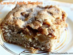 Caramel Apple Blondies - Mm Mm Good!