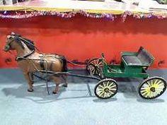 Transportation : Salesman Sample Wagon & Horse $850.00 Denver Brass Armadillo Antique Mall.