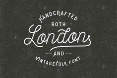 VINTAGEFOLK font on Behance