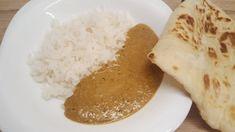 Korma szósz rizzsel és naan kenyérrel Chickpea Coconut Curry, Korma, Wok, Vegan Gluten Free, Pesto, Naan, Ethnic Recipes, Drink Recipes, Sauces