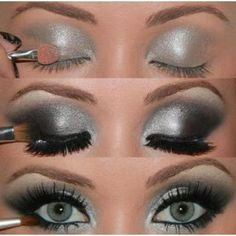 how to do silver eyeshadow(;
