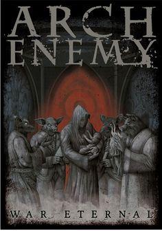 Arch Enemy War Eternal Poster Flag for $20.00  http://www.jsrdirect.com/merch/arch-enemy/arch-enemy-war-eternal-poster-flag  #archenemy #wareternal #poster #metalposters #metalposter #metal