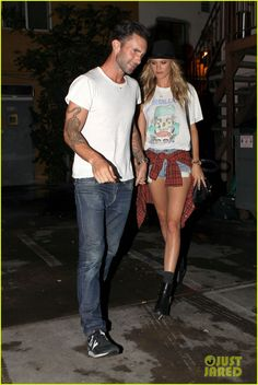 adam levine behati prinsloo seen for first time since wedding