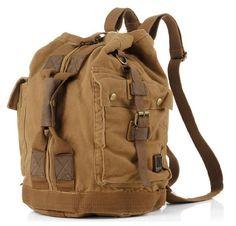 Canvas Travel Hiking Rucksack Backpack #canvasbackpack #hikingbackpack #militarybackpack