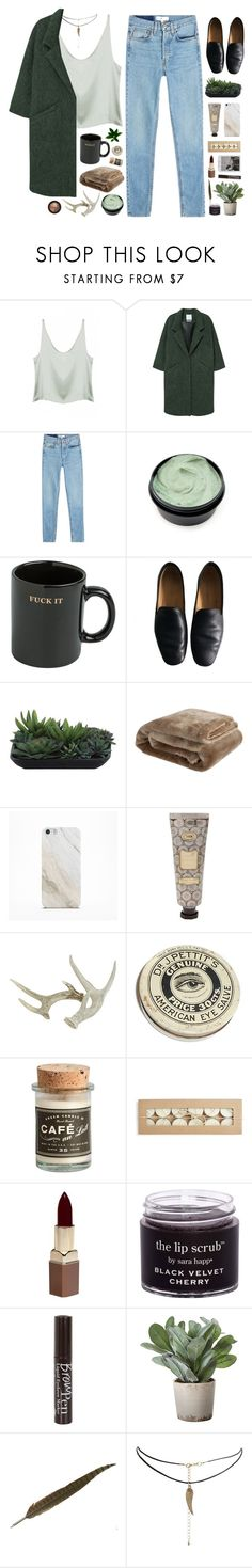 """Silver starlight breaks through the night"" by nandim ❤ liked on Polyvore featuring Base Range, MANGO, RE/DONE, HUF, Lemaire, Lux-Art Silks, Zara Home, Samsung, Fashion Fair and River Island"