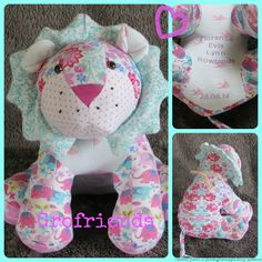 Baby-grow keepsake Lion handmade in the UK by www.grofriends.co.uk #handmade #keepsake #baby